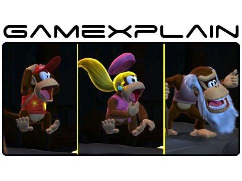 Donkey Kong Country: Tropical Freeze - Head-to-Head Cutscene Comparison (Wii U)