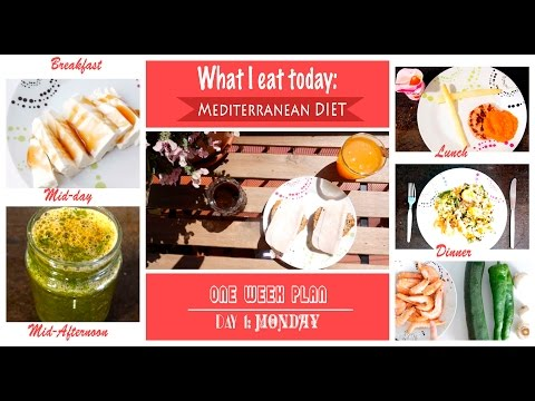 What I eat today: Day 1- MONDAY - Mediterranean diet for 1 week - breakfast&lunch& dinner