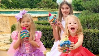 Nastya는 친구들과 생일 파티를 축하합니다.