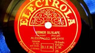 "Tenor Alessandro Valente - Nessun Dorma - ""Keiner Schlafe"" aus Turandot - 25. April 1927"