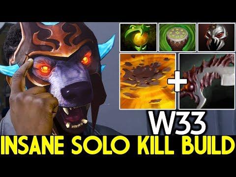 W33 [Ursa] Abyssal Blade Build Insane Solo Kill Gameplay 7.24 Dota 2