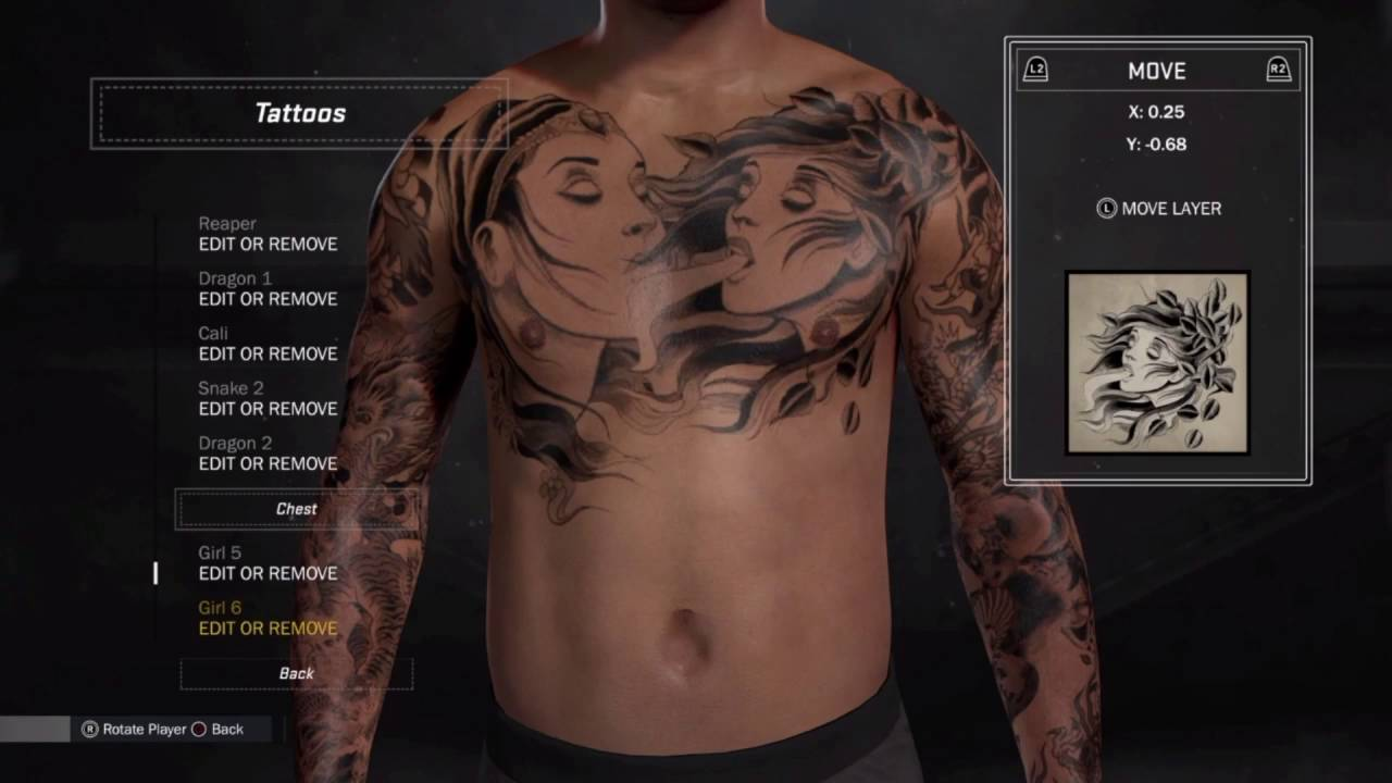 nba 2k17 clean look for your tattoos youtube