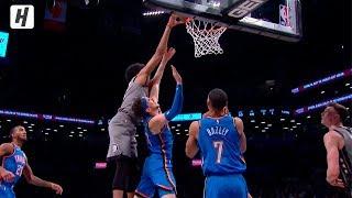 <b>Jarrett Allen</b> POSTERIZES Mike Muscala | Thunder vs Nets ...