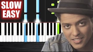 Bruno Mars - Just The Way You Are - SLOW EASY Piano Tutorial by PlutaX