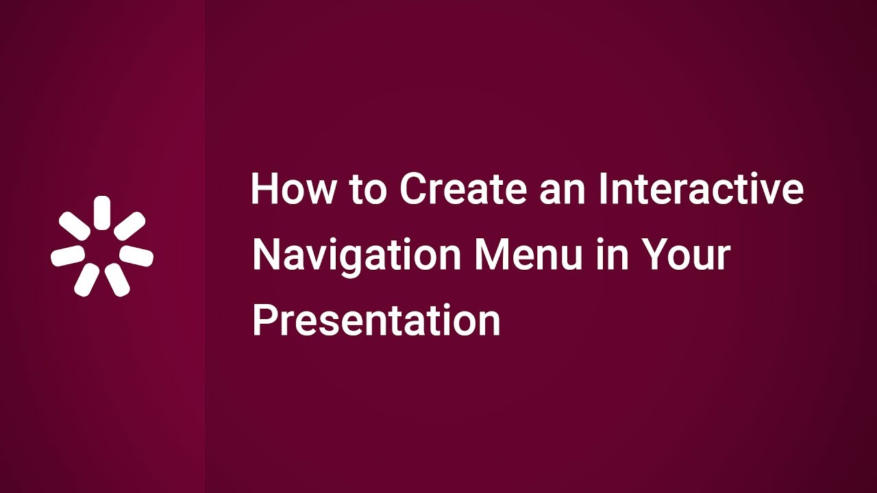 How to Create an Interactive Navigation Menu in Your Presentation - YouTube