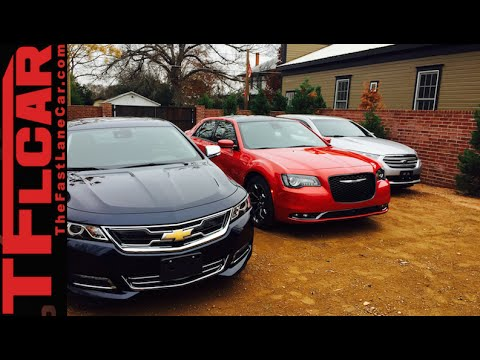 2015 Chrysler 300 vs Chevy Impala vs Ford Taurus Mashup Revi
