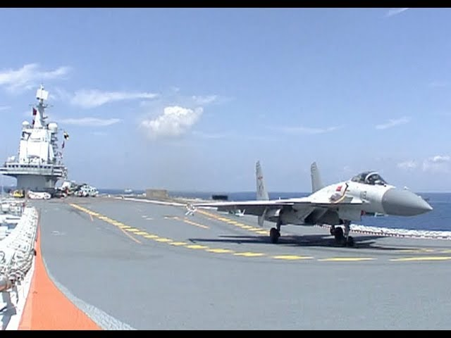 China Reveals Detailed Videos of J-15 Fighter Jets Training on Aircraft Carrier - YouTube