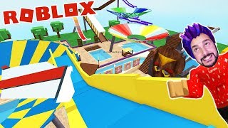 Roblox: KAAN TESTET NEW WATER PARK! SWIMMING POOL ROQUATICA WITH 10 SLIDES! Waterpark Simulator