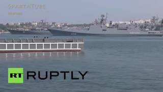 Shooting indah dari Angkatan Laut Rusia