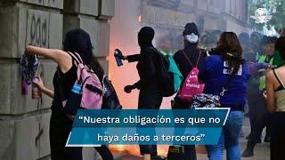 La jefa de Gobierno de la Ciudad de México hizo un llamado para que la manifestación del Día Internacional de la Mujer se realice de forma pacífica, con uso de cubrebocas y distanciamiento