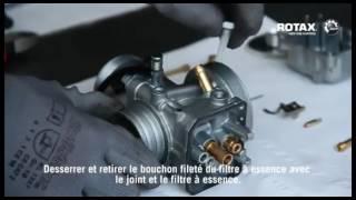 Entretien du carburateur et de la boite à air - moteur Rotax