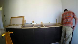 How to install Vanity Cabinets