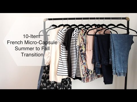 10-Item French Micro-Capsule Wardrobe | Summer To Fall/Autumn Transition