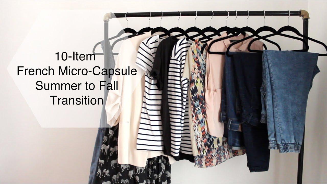 10 Item French Micro Capsule Wardrobe