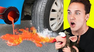 SATISFYING LAVA vs CAR and EVERYDAY OBJECTS! (EXPERIMENTS)