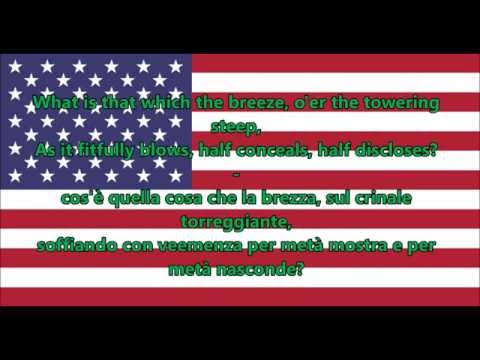 Inno nazionale degli Stati Uniti d'America - National Anthem USA (EN/IT Testo)