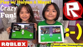 Family Toy Channel: Let's Play Roblox w/ Hulyan & Maya! Knife Simulator and Car Crash Simulator