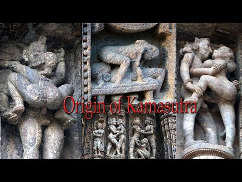 Konark Sun Temple. Erotism and origin of kamasutra in Indian sculpture.