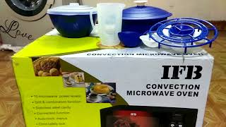 IFB 23BC4 CONVECTION MICROWAVE OVEN UNBOXING