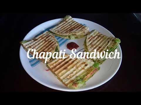 Chapati Veg Sandwich | Bombay chapati Sandwich | Leftover chapati recipe | Easy breakfast recipe