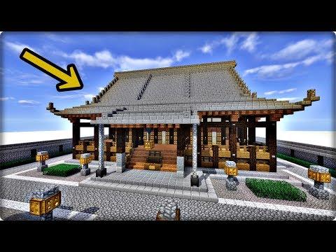 【マインクラフト】寺を和風建築してみる【寺の作り方】