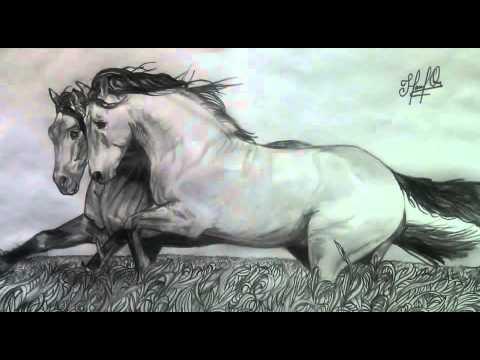 Mira Este Hermoso Dibujo Que Realice De 2 Caballos Corriendo Youtube
