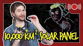 Elon Musk's 10,000km^2 Solar Panel | Because Science Live!