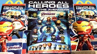 2019 McDONALD'S DISNEY MARVEL AVENGERS ENDGAME MOVIE HAPPY MEAL TOYS FULL SET 24 SUPERHERO DISPLAY