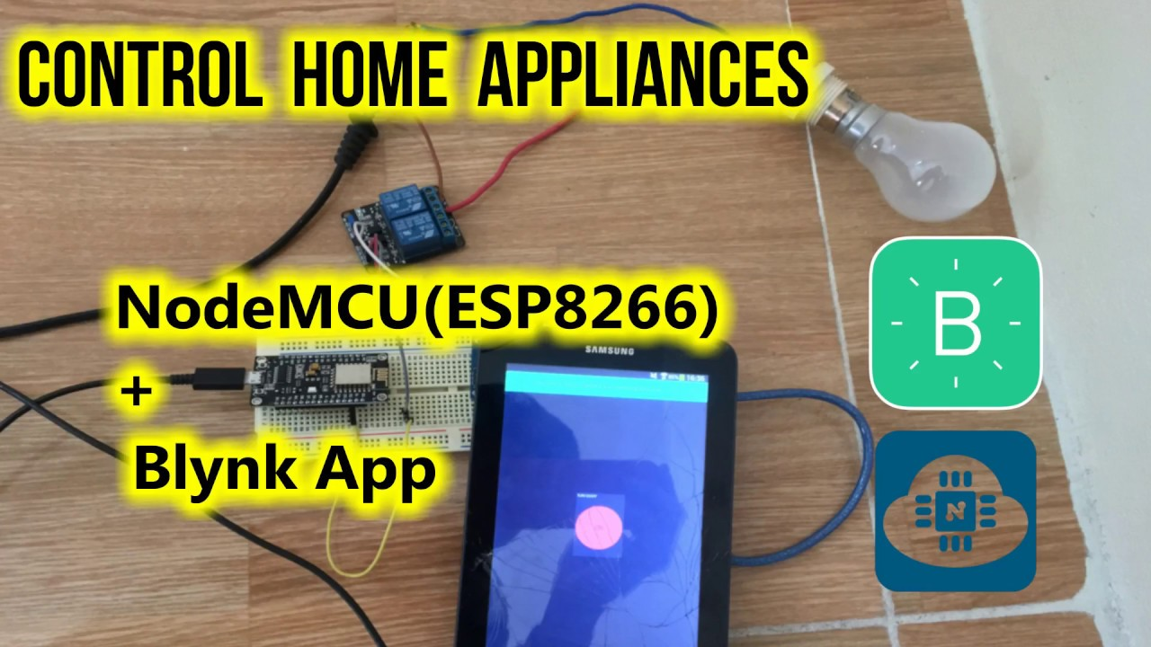 Control Home Appliances Using NodeMCU(ESP8266) and Blynk App: 8