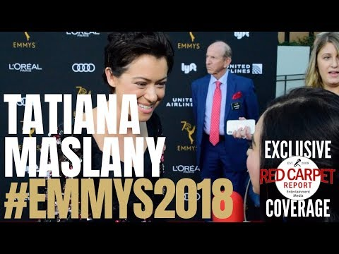 Tatiana Maslany #OrphanBlack interviewed at the #Emmys Performers Nominee Reception #Emmys70