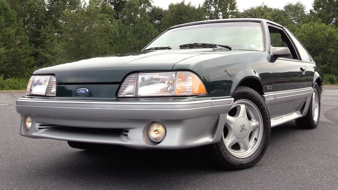 1992 ford mustang gt hatchback start up test drive in depth review