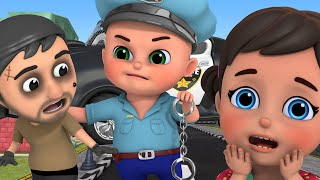 Policeman Keeps Everyone Safe | police car chase | for Kids | Jugnu kids Nursery Rhymes