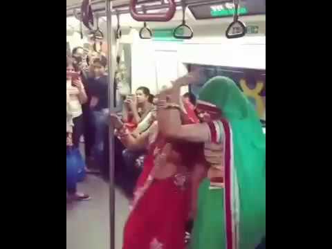Lady sangeet in delhi metro ladies coach