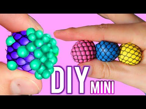Squishy Ball Ingredients : DIY and Cutting Open Squishy Mesh Slime Ball Doovi