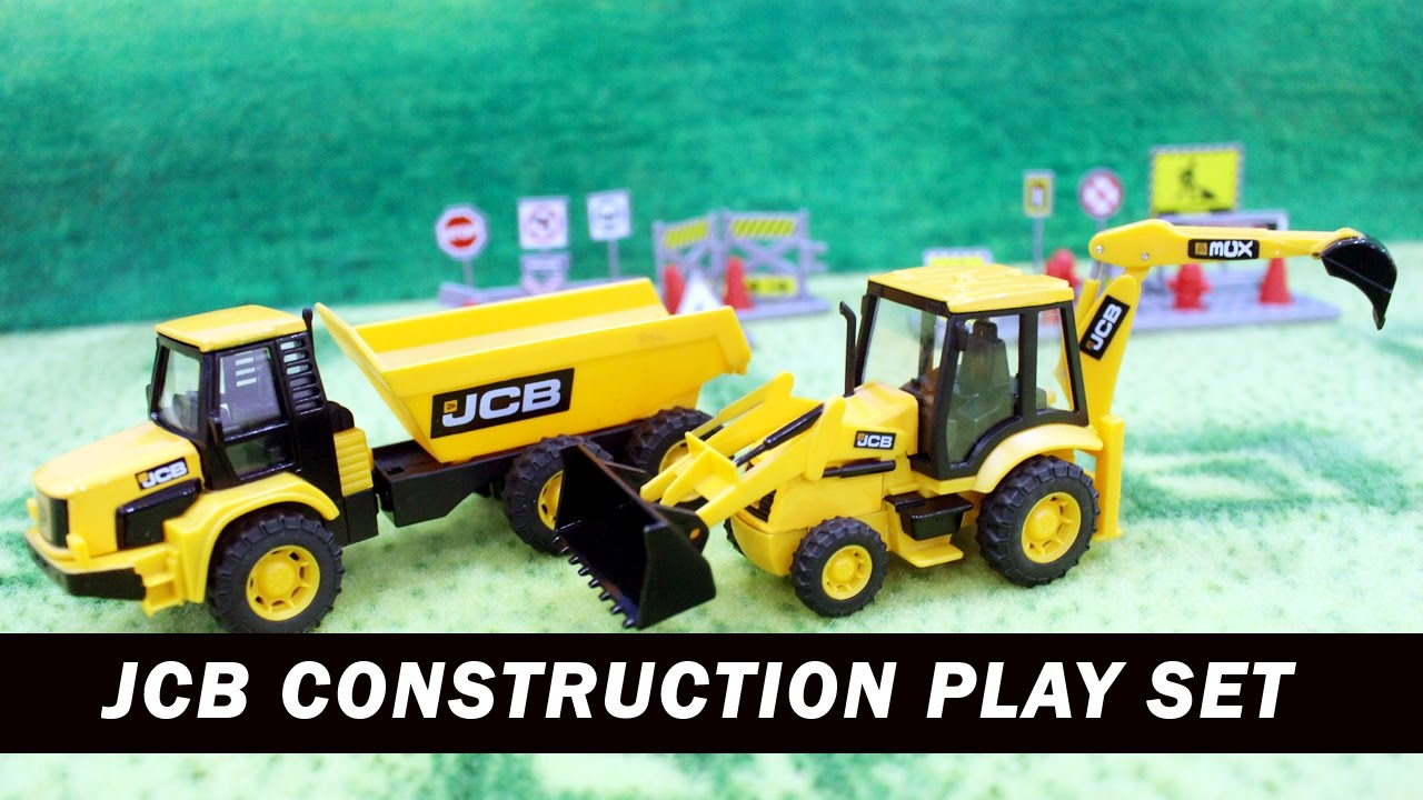 Construction Play Toys : Unboxing jcb construction play set toys video