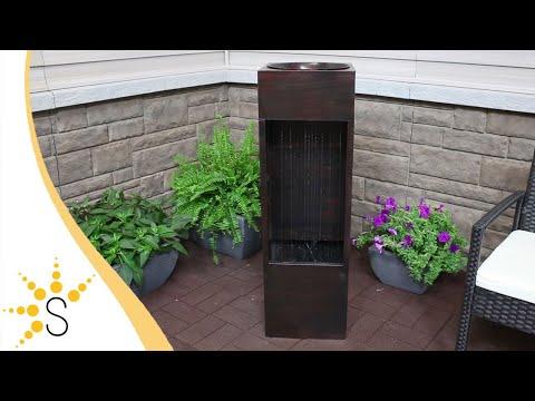 Sunnydaze Tranquil Rain Shower Outdoor Metal Water Fountain - SSS-145