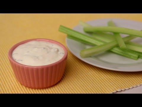 Homemade Blue Cheese Dressing Recipe - Laura Vitale - Laura in the Kitchen Episode 422
