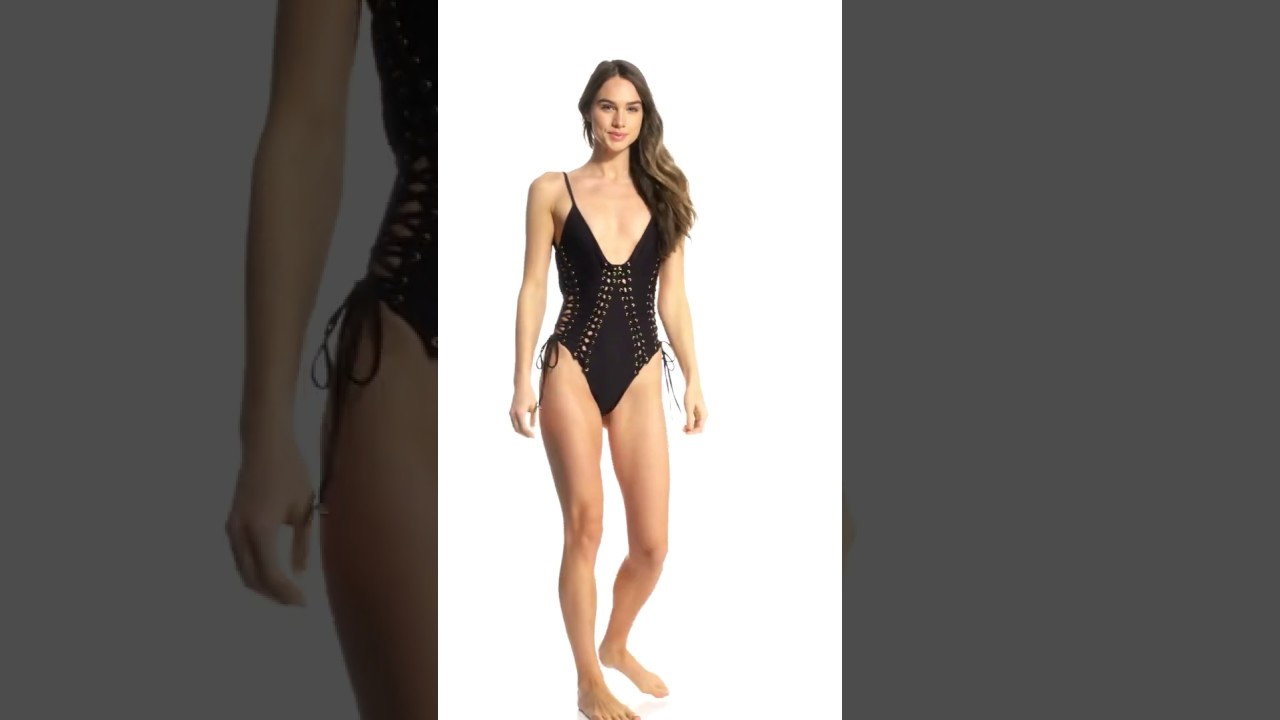0ddeba4bf58e0 Blue Life Swimwear Textured Black Vixen One Piece Swimsuit | SwimOutlet.com