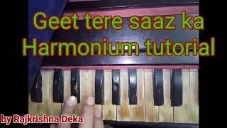 Geet tere saaz ka | viewer's request | harmonium tutorial