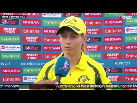 Australia(w) vs West Indies(w) - Australia captain Meg Lanning Post Match Interview