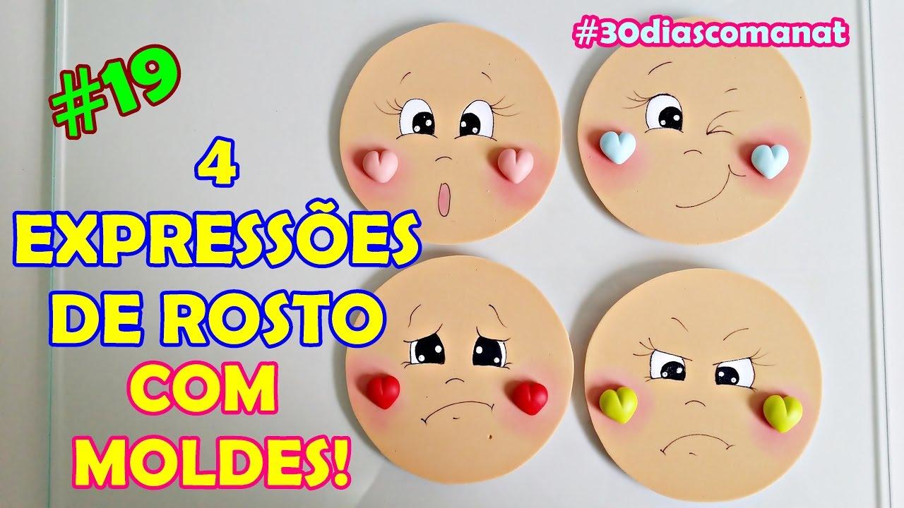 4 Expressoes De Rosto Com Moldes 19 30 Dias Com A Nat Youtube