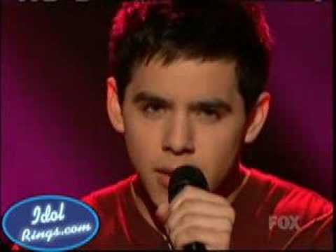 David Archuleta  When You Believe  Final 7  04152008