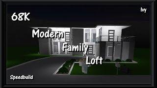 68K Moderne Serfamilie Loft | Speedbuild | Roblox Bloxburg