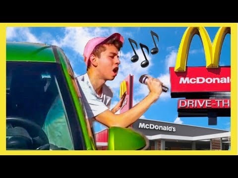 SINGING My Order At Fast Food DRIVE THRUS