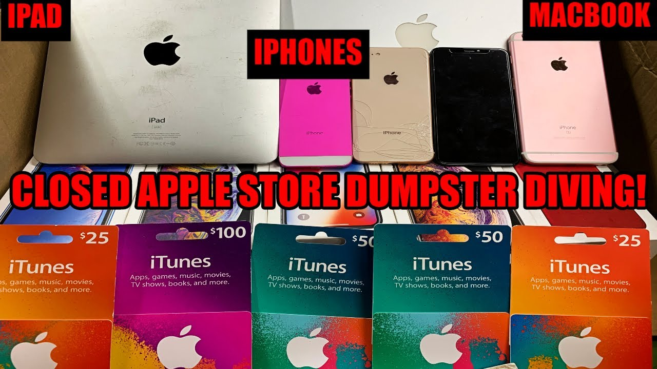 HUGE JACKPOT DUMPSTER DIVING *CLOSED* APPLE STORE! FOUND IPHONES, MACBOOK, IPAD, AIRPODS AND MORE!!!