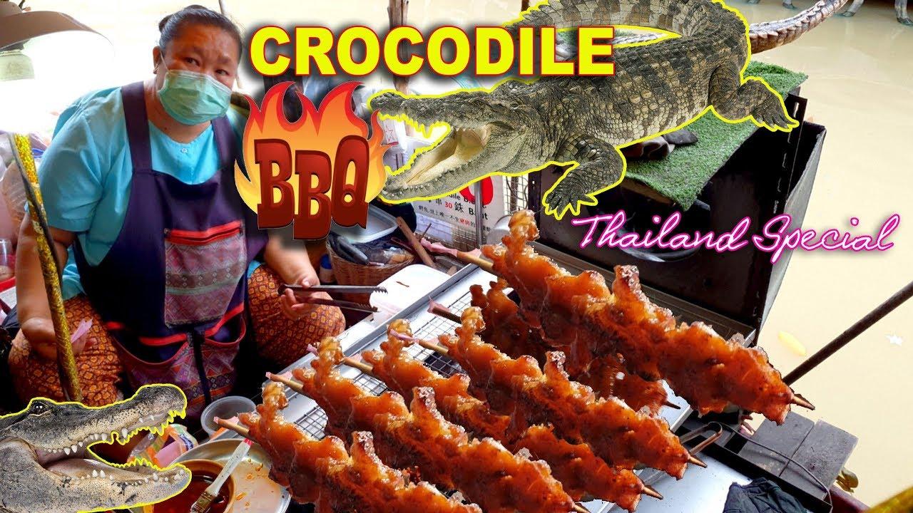 Sate Buaya. Jika berkunjung ke Ratchaburi, Thailand di sana ada begitu banyak penjual kaki lima yang sendang memanggang daging buaya utuh ataupun dalam bentuk potongan kecil. Selain dibakar, ada juga pilihan daging buaya garing yang bisa dikonsumsi dengan saus cocolan. Uniknya trend kuliner tersebut sudah berlangsung hampir 15 belas tahun.