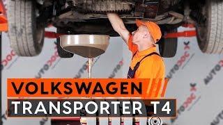 Kako zamenjati motorno olje in oljni filter naVW TRANSPORTER T4 [VODIČ]