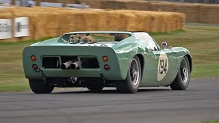 Ford GT40 Roadster Prototype Screams up the Goodwood Hillclimb