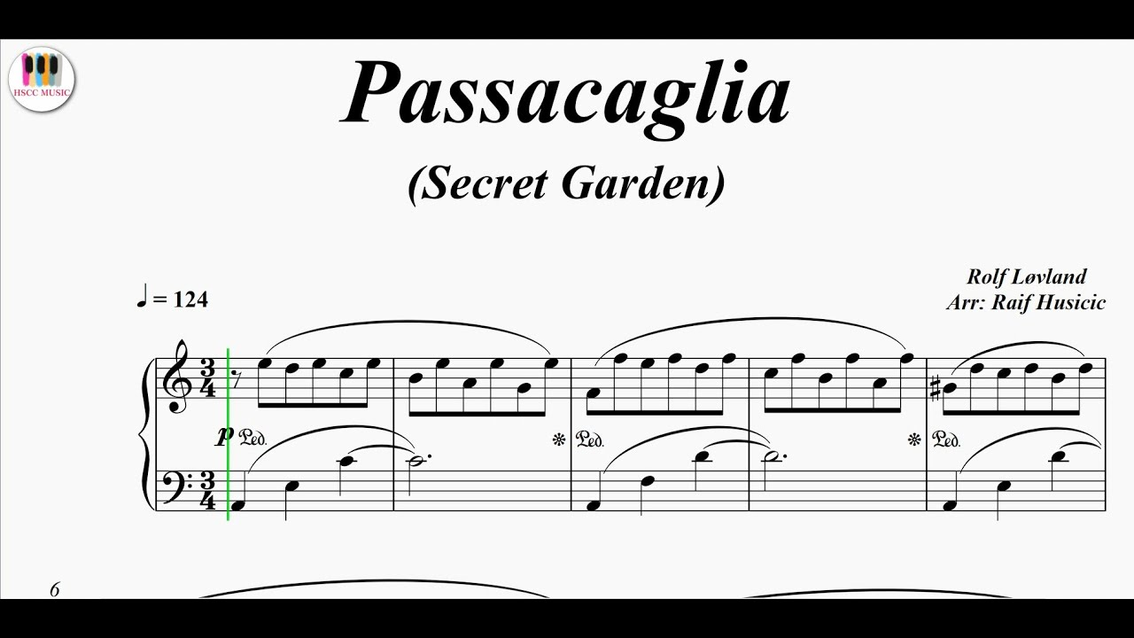 Passacaglia (Secret Garden) - Rolf Løvland, Piano