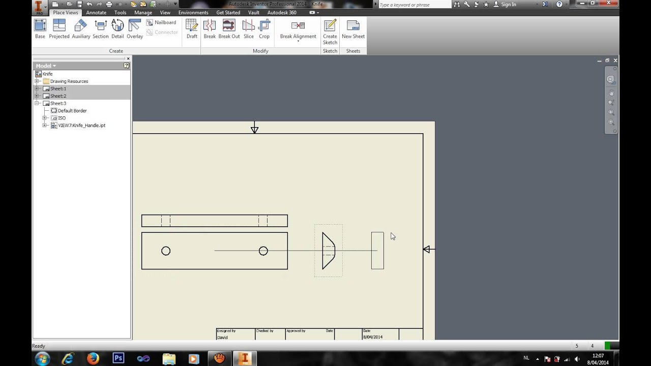 Inventor basics how to create blueprints youtube inventor basics how to create blueprints malvernweather Images